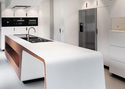 Keuken op maat - corian -solid surface