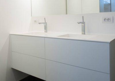 Wastafel solid surface - badkamer - Kuurne