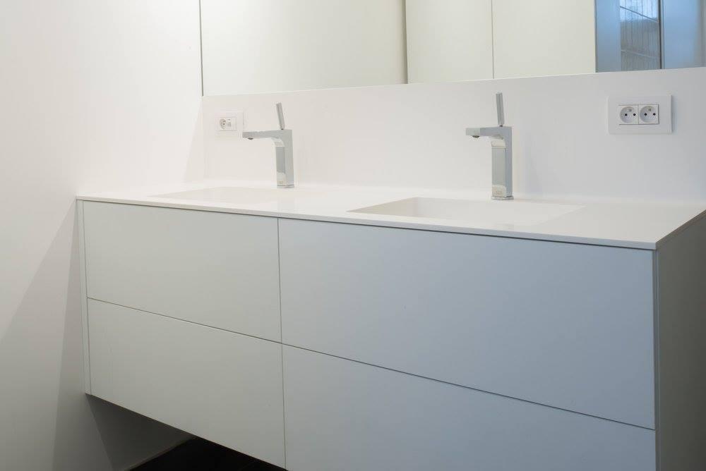 Wastafel Op Maat : Badkamer op maat maatwerk vdb productions kuurne kortrijk