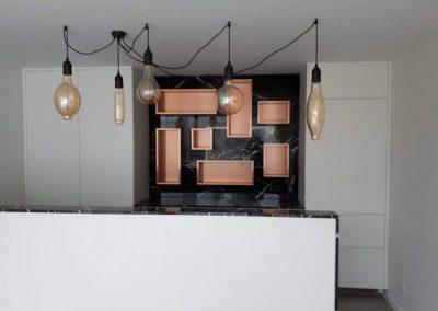 Poolhouse inrichting laminaat - verlichting